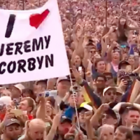 "Jeremy Corbyn Rocks Glastonbury Festival saying, Let's ""Build Bridges, Not Walls."""