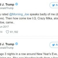 The Poster Child for Bullying Behavior Takes Aim at MSNBC's Morning Joe.