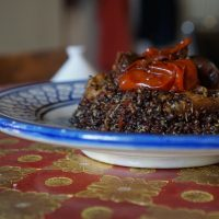 Any Manly Vegan would Weep over this Dish: Black Quinoa with Miso Zaalouk. {Recipe}