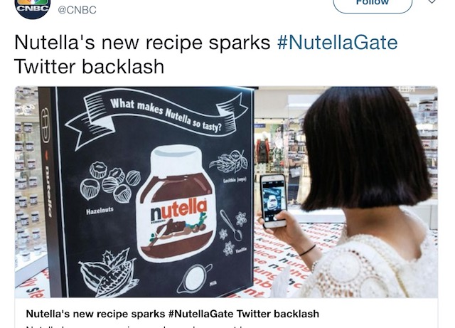 Are you in the know on #NutellaGate? Nutella Fans are Losing It for the Wrong Reason.