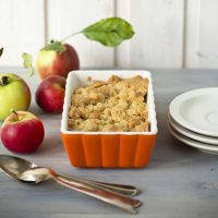 Toasted Almond Apple Crumble. {Recipe}