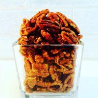 Maple-Glazed Coconut Pecans. {Recipe}