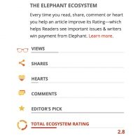 The most Exciting Change in Elephant in 10 years—the Ecosystem Rating.