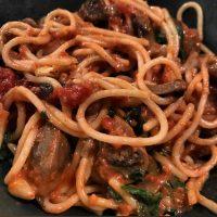 Creamy Mushroom Pasta for 2. {Vegan Recipe}