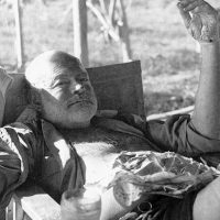 The Note left on Hemingway's Grave.