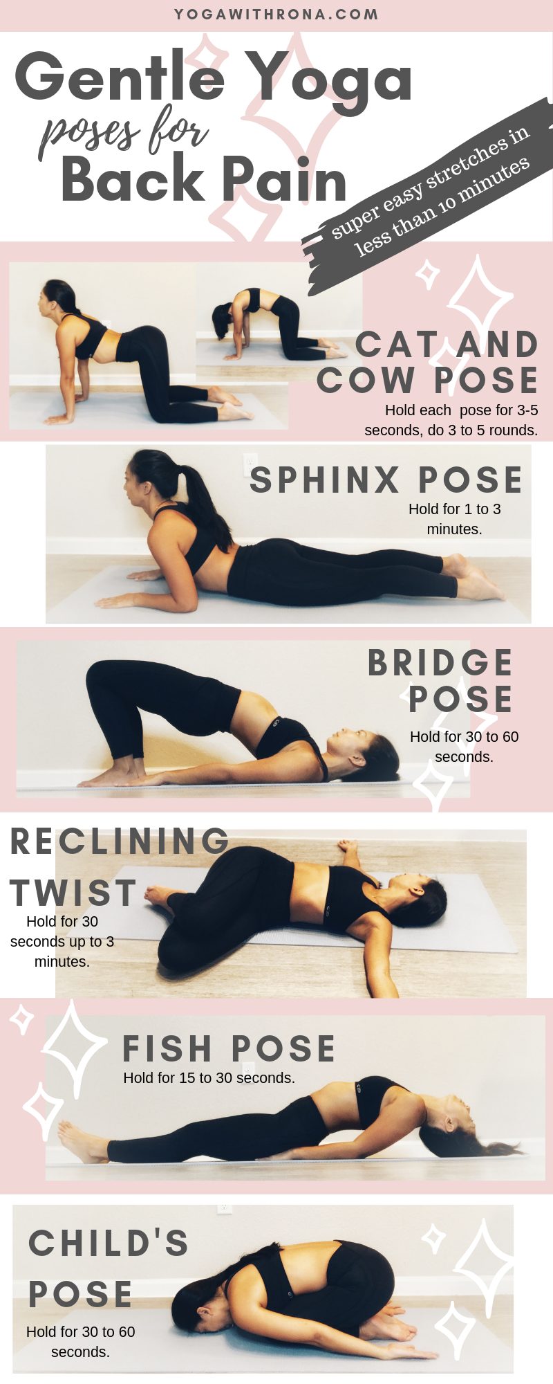 Gentle yoga poses for back pain  elephant journal