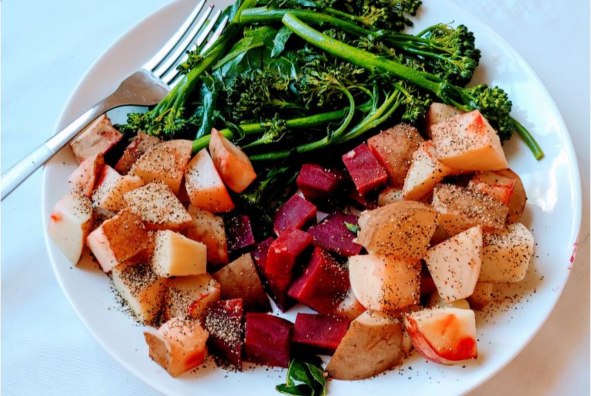 Vegan Root veggies and Eggplant