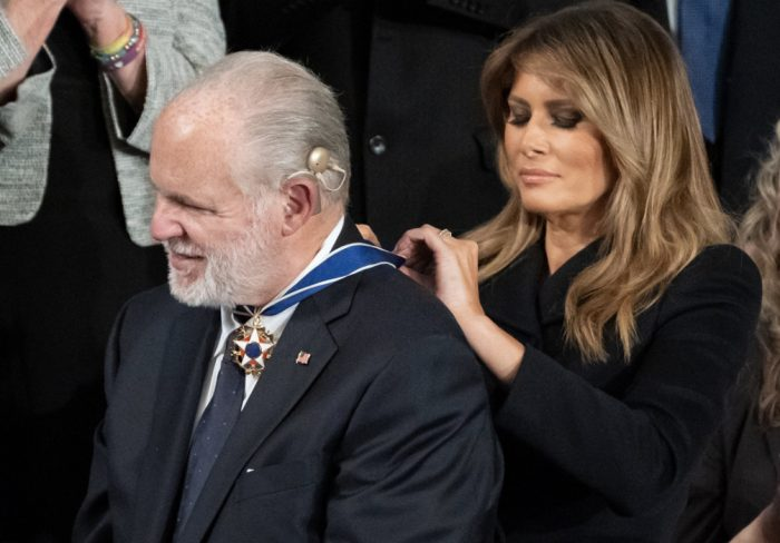 Rush Limbaugh and Melania Trump