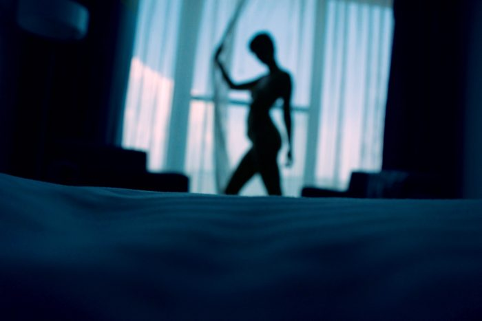 woman in the bedroom