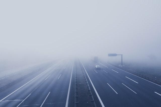 Misty Quiet Motorway